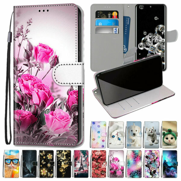 For Samsung Galaxy Note 20 S20 Ultra A01 A71 A91 Leather Flip Wallet Case Cover $9.39