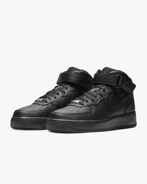 NIKE AIR FORCE 1 MID '07 TRIPLE BLACK 315123 001 sizes 4Y-14 *BRAND NEW IN BOX*