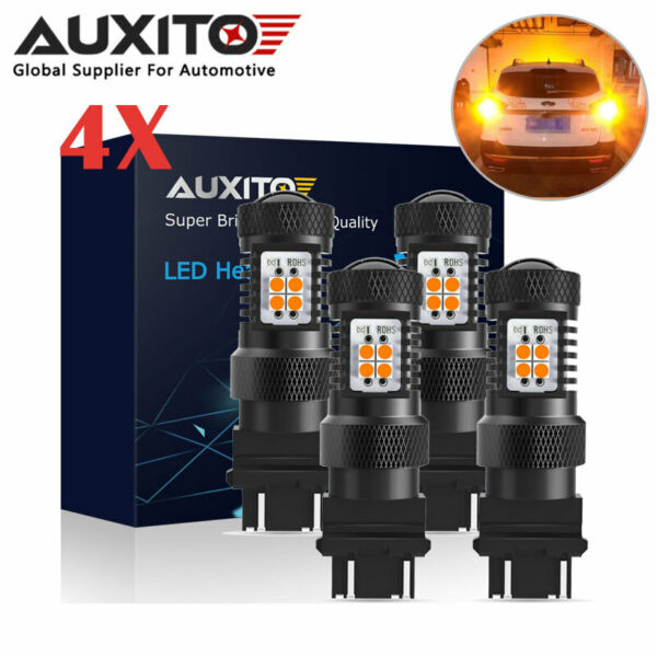 AUXITO 3157 3156 Amber LED Turn Signal Indicator Light Bulb for CK Standard