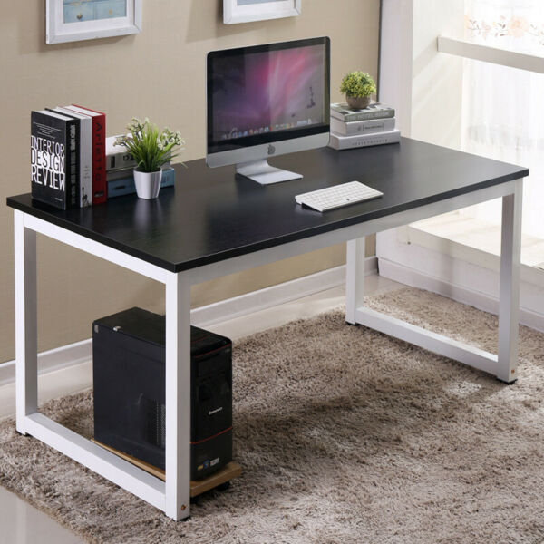 Wood Computer Table Study Desk Office Furniture PC Laptop Workstation Home US