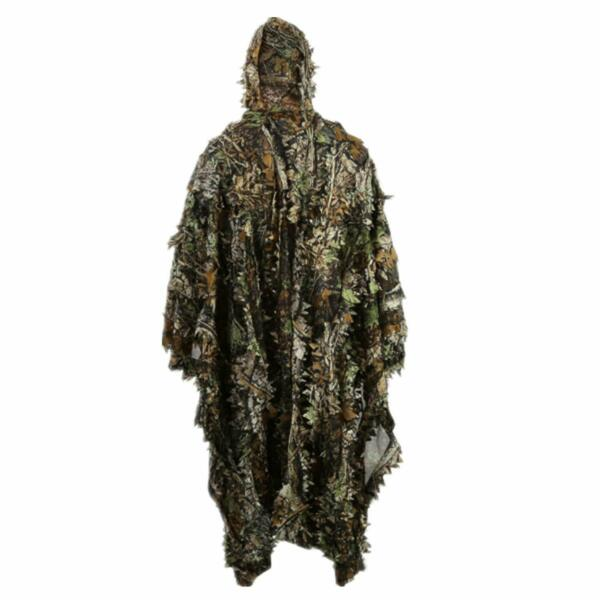 Ghillie Suit Outdoor 3D Leaves Camo Military CS Woodland Hunting Ghillie