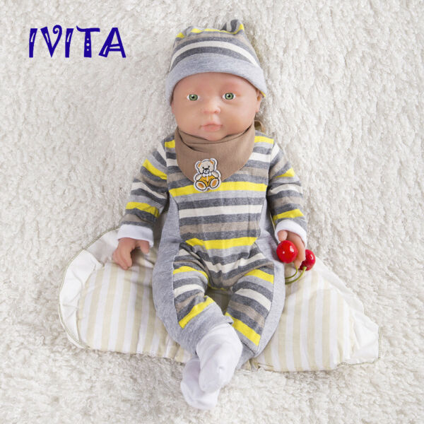 IVITA 16'' Full Body Silicone Reborn Doll Realistic Baby Girl Birthday Gift Toy