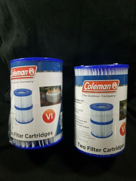 4 Coleman Pump Replacement Cartridge Type VI 90424E. 2 packs of 2 filters $22.75