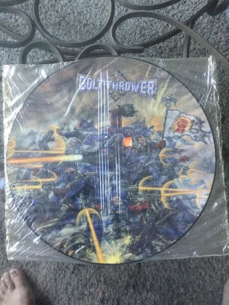 Bolt Thrower Realm Of Chaos Sealed Picture Disc Very Rare 1989