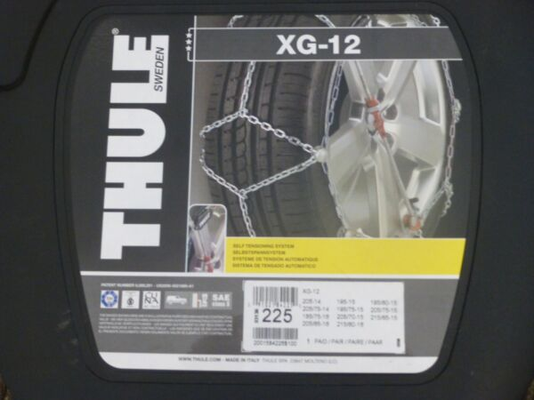 THULE XG-12 225 SNOW CHAINS 1 pair - set of 2 BRAND NEW