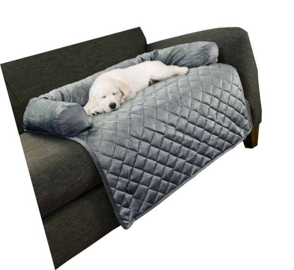 PETMAKER Furniture Protector Pet Cover with Bolster Collection Gray 35quot; X 35quot; $58.99
