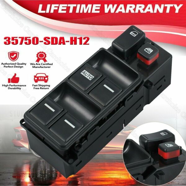 Fits Honda Accord 2003-2007 Electric Master Power Window Switch Left Driver Side