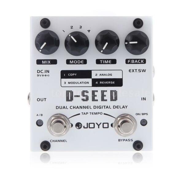 New JOYO D-SEED Dual Channel Digital Delay Guitar Effect Pedal Four Modes X3W1