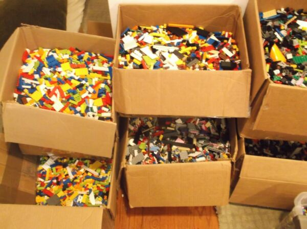 Clean 100% Genuine LEGO 5 LB Lots pounds Bulk Lot Cleaned Sanitized $34.95