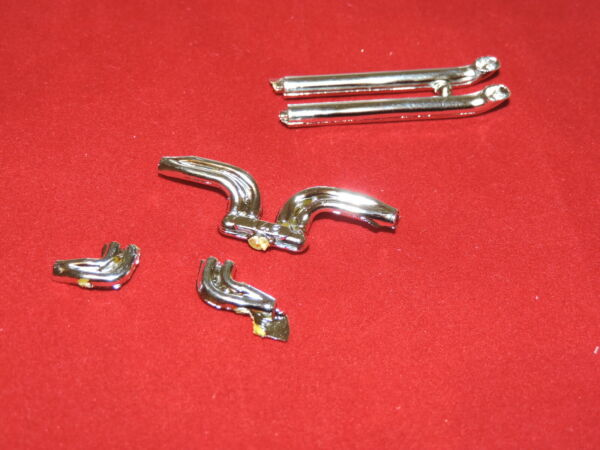 Model Car Parts MPC Chrome Side Pipes 125