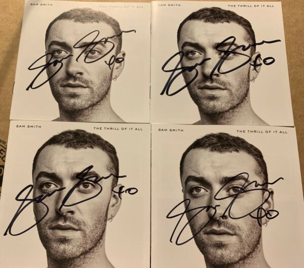 SAM SMITH SIGNED AUTOGRAPHED THRILL OF IT ALL CD BOOKLET RARE TO DIE FOR