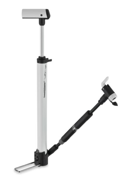 Airace Bike Floor Pump Portable Aluminum In Line Gauge Presta Schrader 120PSI $13.99