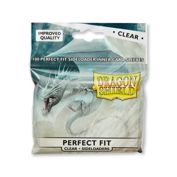 Sideloader Perfect Fit Clear 100 ct Dragon Shield Sleeves Standard 10% OFF 2 $6.75