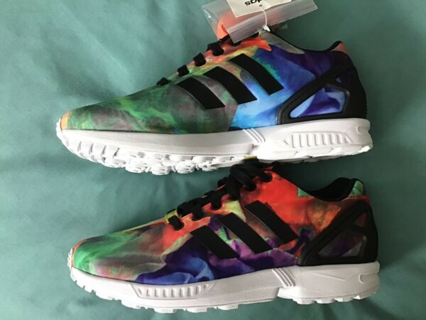 NEW ADIDAS ZX FLUX MULTICOLOR RUNNING/ TRAINING SHOES WOMEN-9.5. no box
