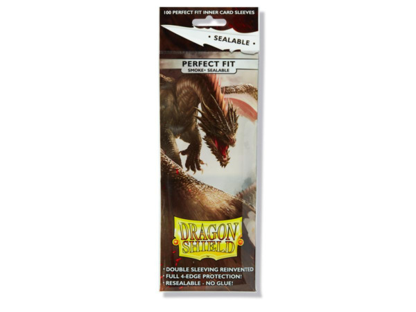 Sealable Perfect Fit Smoke 100 ct Dragon Shield Sleeves Standard 10% OFF 2 $6.96