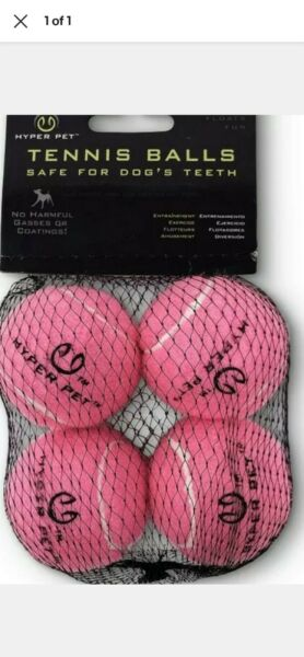 Hyper Pet Tennis Balls For Dogs (Pet Safe Toys) Mini - 4 Pack Pink $7.99
