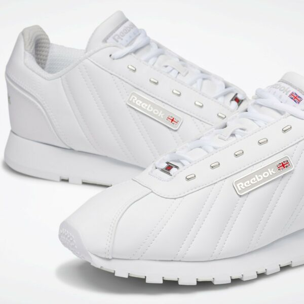 Reebok Mens Classic CL Oryx Athletic Running Shoes All White Leather EH1794