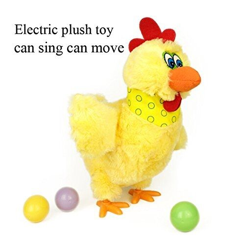 Crazy Doll Chicken Hen Lay Eggs Dancing & Singing Pet Plush Xmas Gift Toys