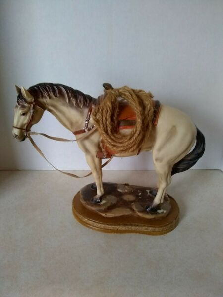 Vintage Horse With Saddle
