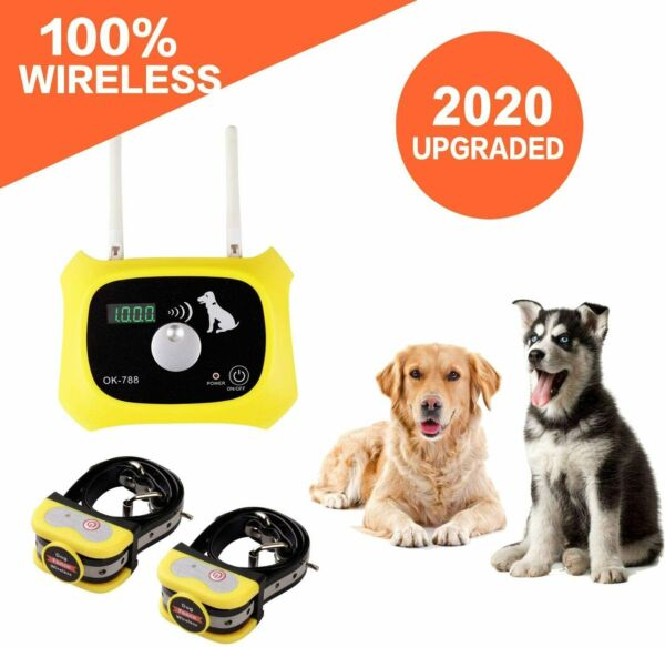 JUSTPET Wireless Dog Fence Containment System Dual Antenna Stronger More Stable $74.99