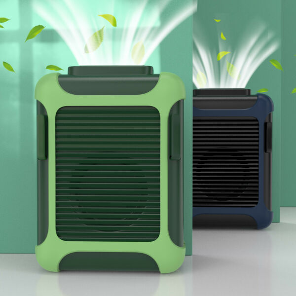 Portable USB Rechargeable Waist Hanging Dual Cooling Mini Fan Personal Outdoor $25.99