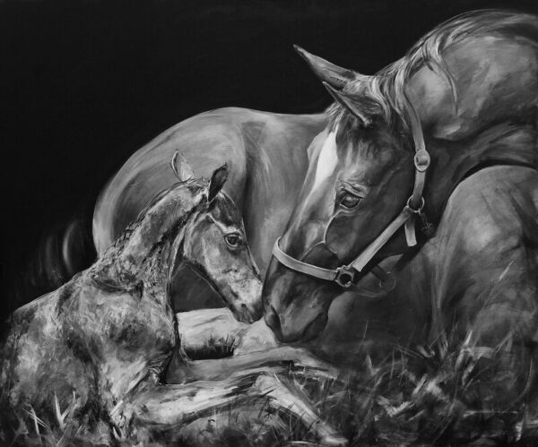 'Eternally Blessed' Professional mare and foal horse print by Jessica Hill