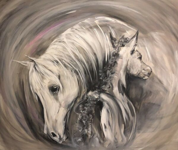 'Little Beauty' Professional mare and foal horse print by Jessica Hill