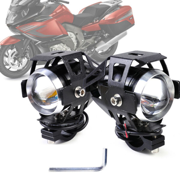 2x 15W U5 Headlight Driving LED Spotlight Fog Light Lamp fit for Motorcycle ~