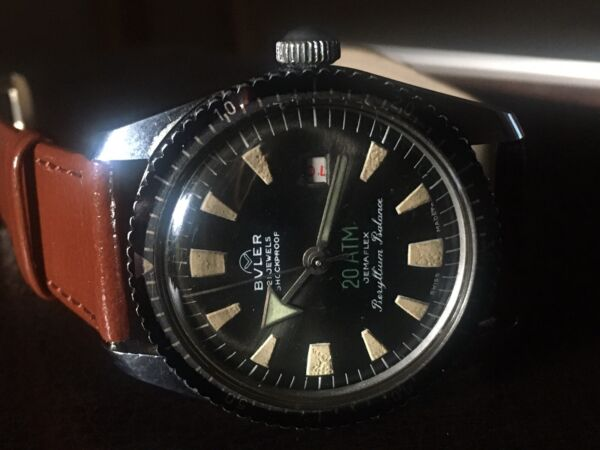 Vintage Swiss Skin Diver Automatic Watch- Buler £298 $388.92