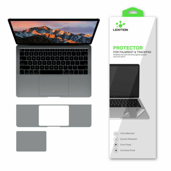 LENTION Palm Rest Skin Trackpad Protector Cover for 2020 MacBook Air 13 Gray