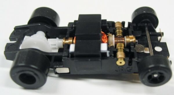 JAG Hobbies TR-3 In-line Rolling Slot Car Chassis for Screw-On T-jet Bodies $24.50