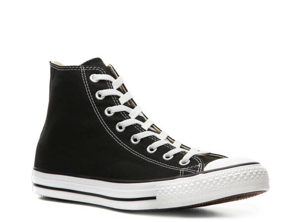 CONVERSE Men's Chuck Taylor All Star CTAS OX Black High Top Sneakers Shoes