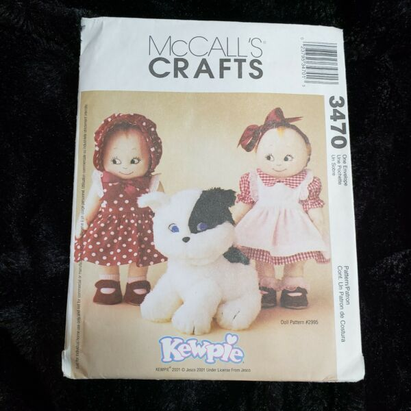 McCalls 3470 Kewpie Clothes amp; Doodles the Dog Sewing Pattern UNCUT $8.99