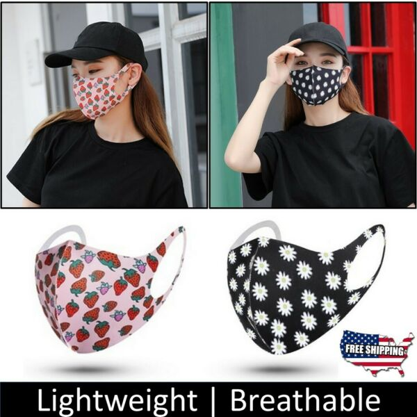 Women#x27;s Reusable Washable Lightweight Soft Cloth Breathable Face Mask Covering