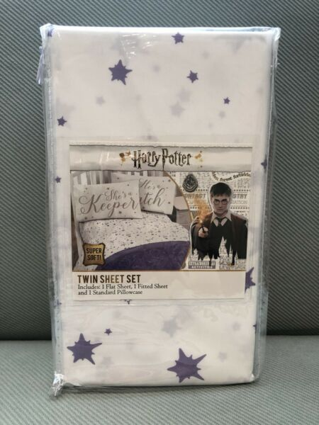 Jay Franco & Sons Harry Potter Twin Sheet Set Flat & Fitted Sheet Pillowcase New