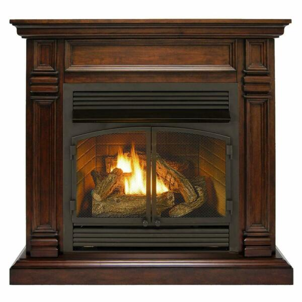Duluth Forge Dual Fuel Ventless Gas Fireplace With Mantel 32K BTU Remote Control