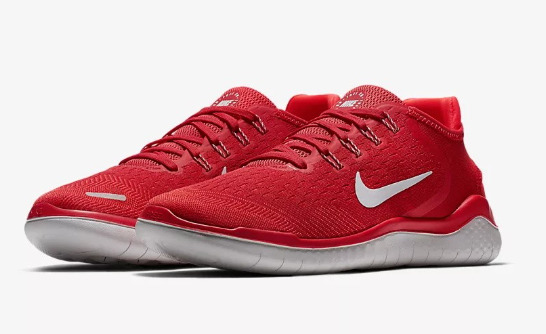 MENS NIKE FREE RN 2018 RUNNING SHOES / SIZE 12 / SPEED RED