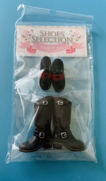 Pullip shoes selection Groove dolls Japan Black Boots And Navy Blue Shoes