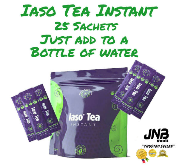 💥💥💥SALE🔥🔥🔥 TLC Iaso Tea INSTANT 25 SACHETS Natural Cleanse Weight Loss $30.00