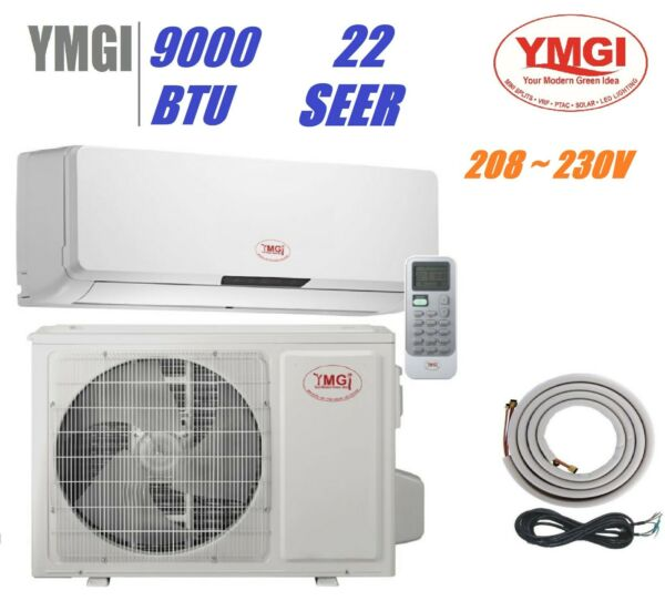 YMGI 22 SEER 9000 BTU Ductless Mini Split Heat Pump Air Conditioner 15 ft linese $956.00