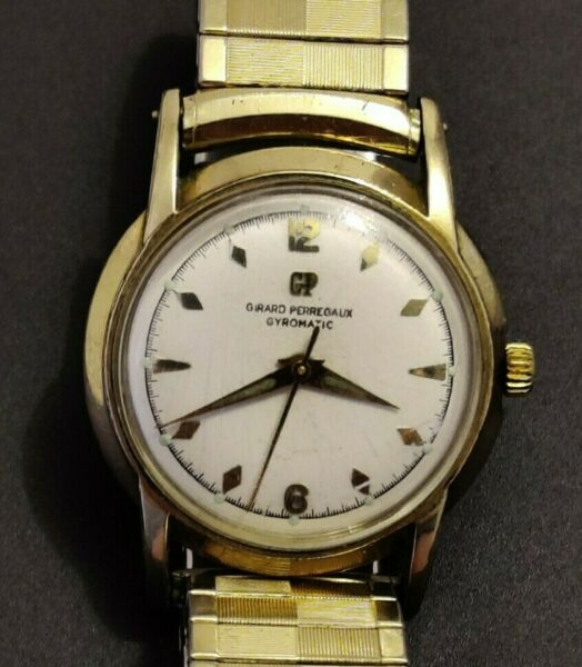 VINTAGE GIRARD PERREGAUX GYROMATIC 17JEWELAUTOMATIC WATCH CAL 47EU WORKS $250.00