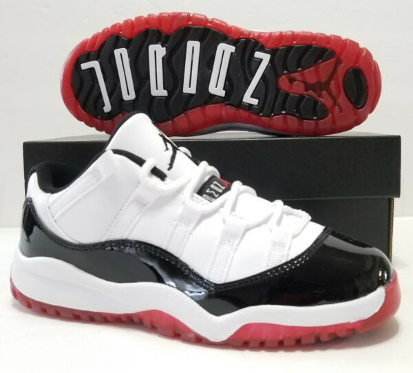 Size 1.5Y Nike Air Jordan 11 Retro Low Concord Bred XI (PS)Youth Size 505835-160