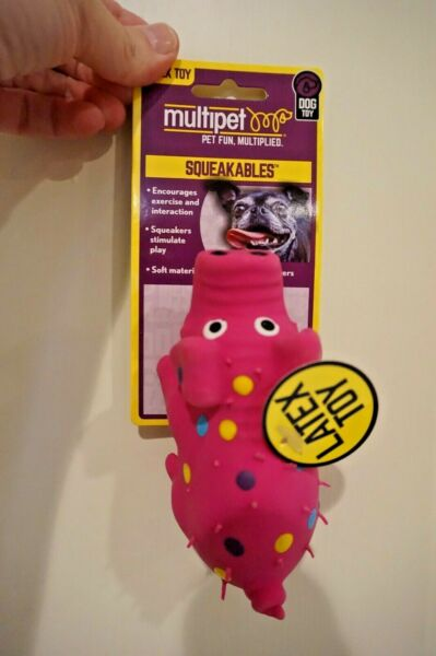 NWT MULTIPET  DOG TOY GLOBKEN PIG LATEX WITH SQUEAKER MINI $5.99