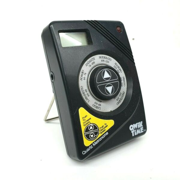 Qwik Time QT-3 Metronome - Portable Metronome with Built-In A440 Pitch Tuner