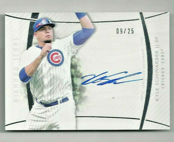 2017 Topps Diamond Icons Kyle Schwarber 'Red Ink Autographed Card' #d 0925