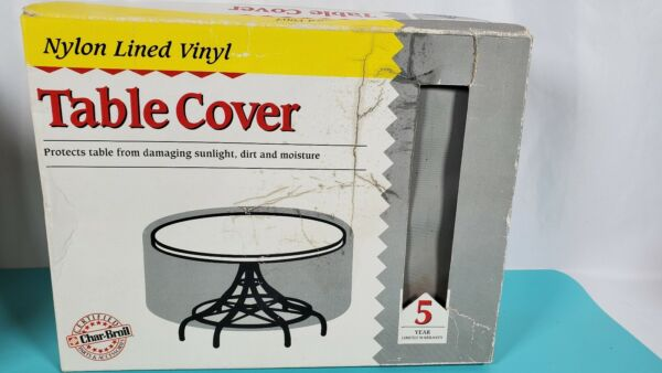 Char Broil Table Outdoor Cover protects from Sun Dirt Moisture. $29.99
