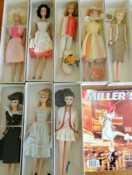 Barbie 1960s Dolls W Prototype Mattel Fashions as Seen In Miller's Magazine