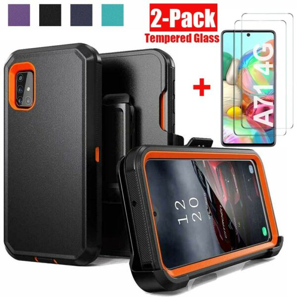 For Samsung Galaxy A71 5G A51 Armor CaseTempered GlassBelt Clip Fits Otterbox $9.99