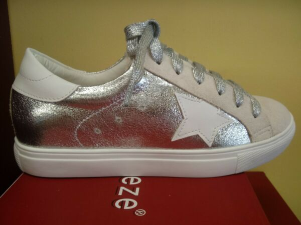 New silver star low top lace up trendy Sneaker Dale