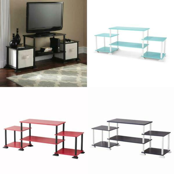 TV Media Stand Entertainment Center 3 Cube Console No Tools Assembly Colors 40
